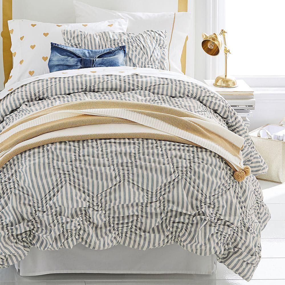 The Emily & Meritt Striped Comforter + Sham Simple bed