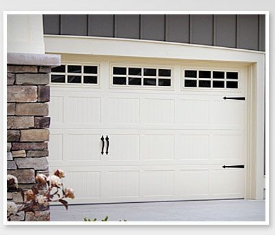 Carriage Style Garage Door Faux Hinges Great Idea For A Little Change Carriage Style Garage Doors Garage Doors Garage House