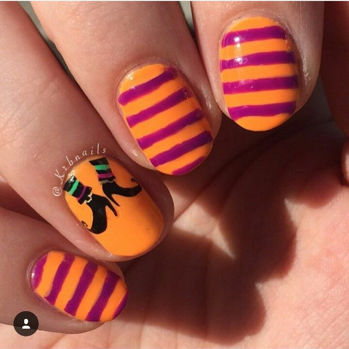 Witch Legs by IG. @krbnails | Boots nails, Nails ...