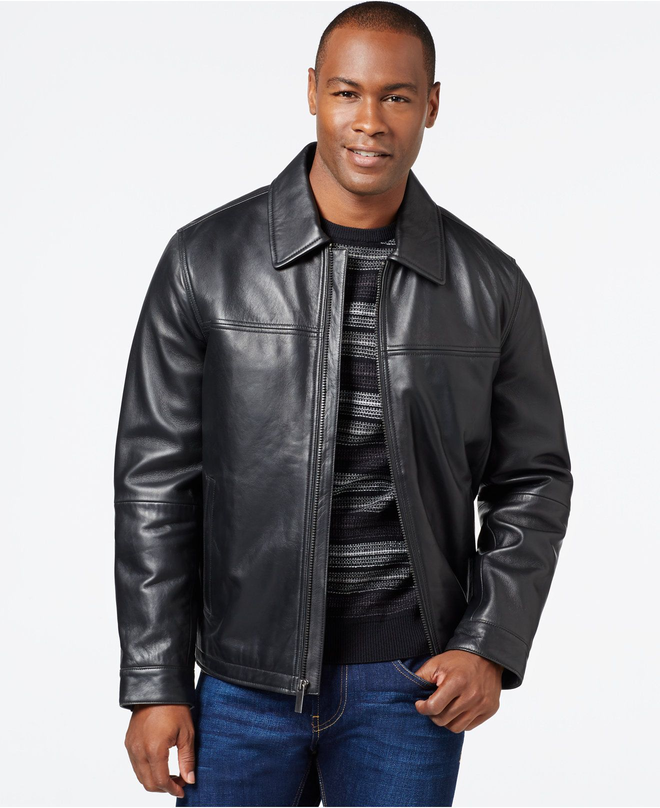 Perry Ellis Big Tall Open Bottom Leather Jacket With Printed Lining Big Tall Men Macy S Leather Jacket Leather Jacket Men Jackets [ 1616 x 1320 Pixel ]