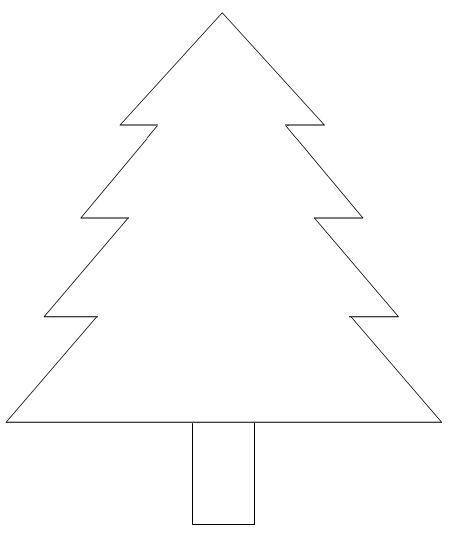 Molde Pino Navidad Arboles De Navidad Christmas Tree Template