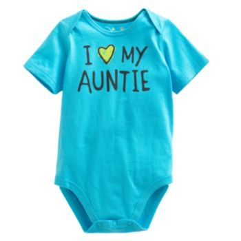"""Jumping Beans """"I Love My Auntie"""" Bodysuit - Baby"""