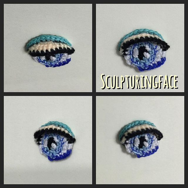 Another crocheted eye view from different angles #amigurumi #crochet #pattern…