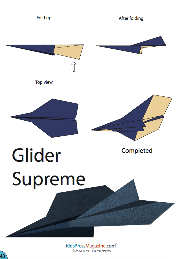 How Do You Fold Paper Airplanes And Make Them Fly Super Fast Very Far With GLIDER SUPREME Eady To Download TOP 15 PDF Model Instructions Of Gliders