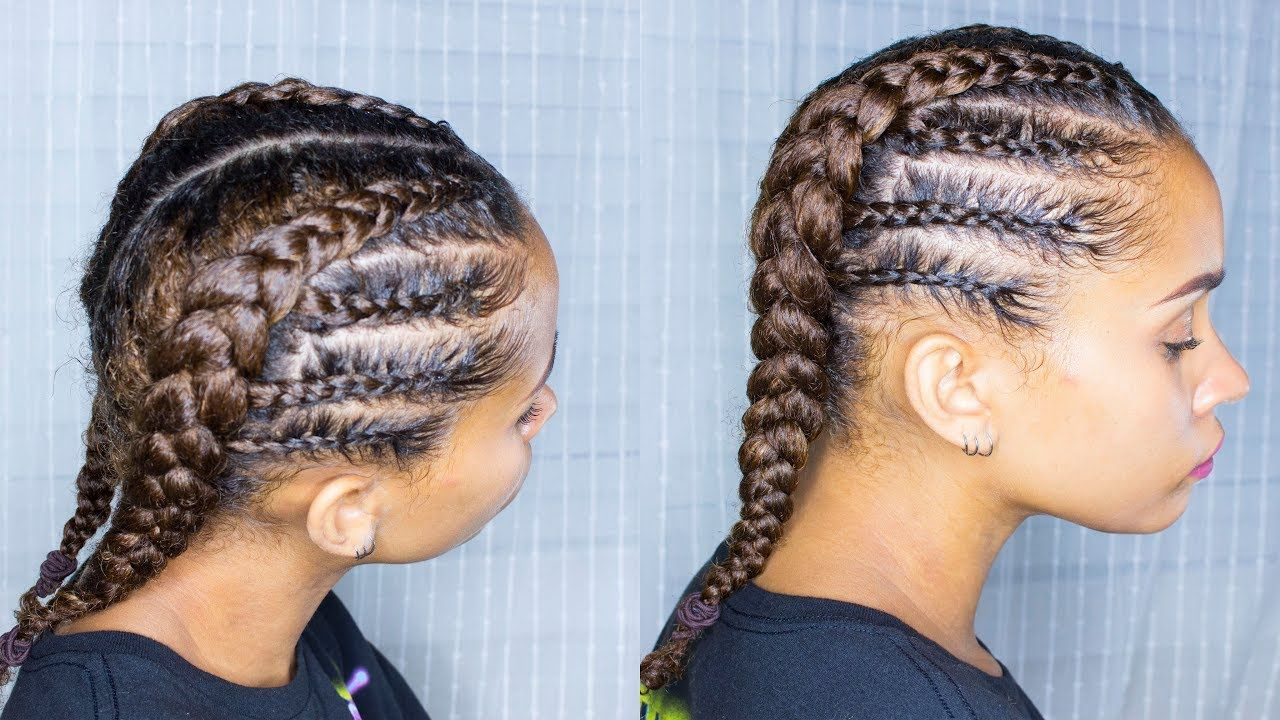 Braided Protective Style Perfect for BACK TO SCHOOL | NATURAL HAIR - YouTube #protectivestyles