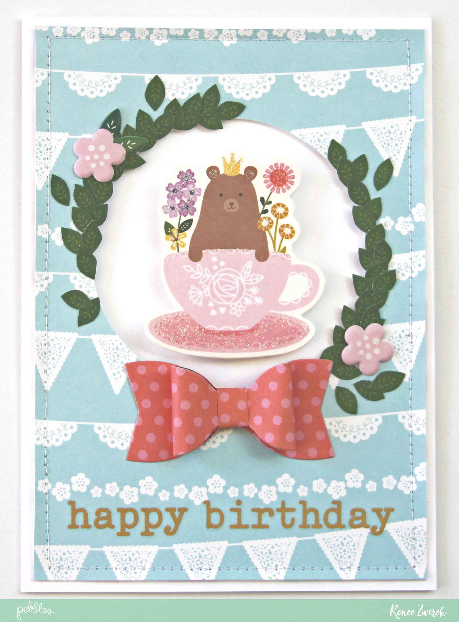 Send birthday wishes with a bit of whimsy with this lovely happy