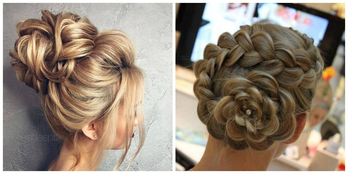 Cute Updos For Long Hair Upstyles Flower Made From Hair Long Hair Styles Bridesmaid Hair Medium Length Medium Length Hair Styles