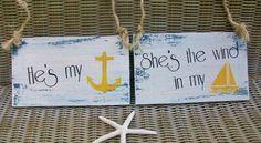 NAUTICAL Wedding Signs NAVY Bride & Groom BEACH Wedding Anchor  Military Wedding