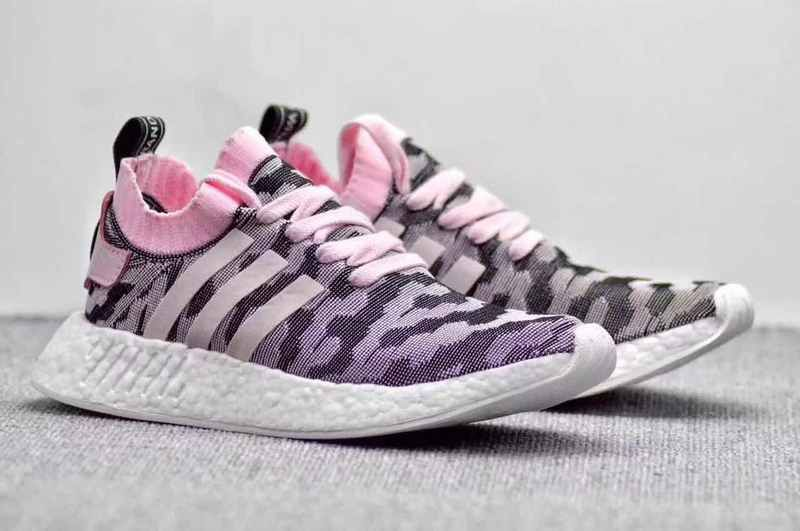 5dd8389c218df Latest Women Adidas NMD R2 Pk Pink Pink Black White For Sale ...