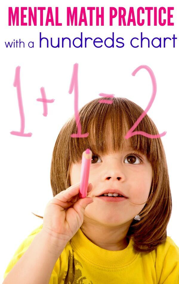 Mental Math Practice with a Hundreds Chart | Mental maths, Learn ...