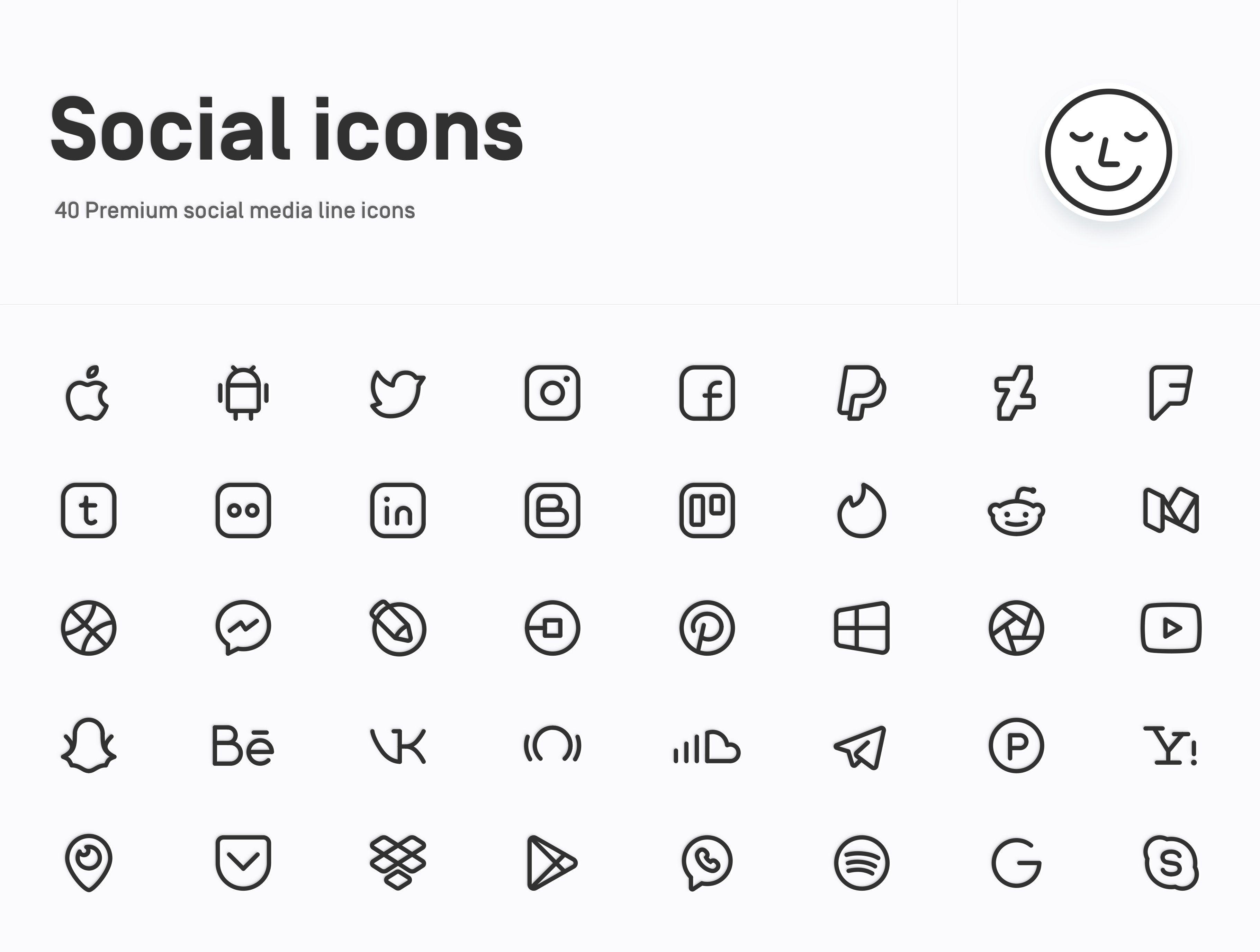 Premium Social Media Icons Social media icons, Iphone