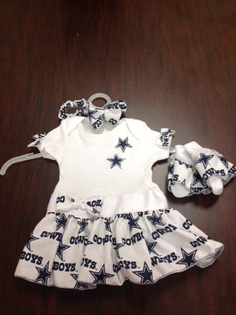 3eaf903df dallas cowboys baby dress onesie by HONEELOU on Etsy