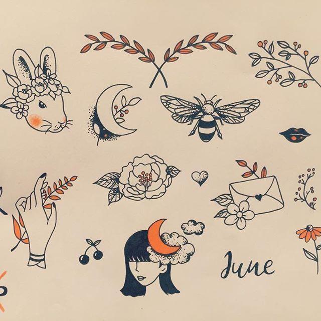 Available Designs Tattoo Flash Tattoos Floralart Orange Bunnytattoo Designs Tattooart Sketch Drawing T Bunny Tattoos Cool Tattoos Rabbit Tattoos