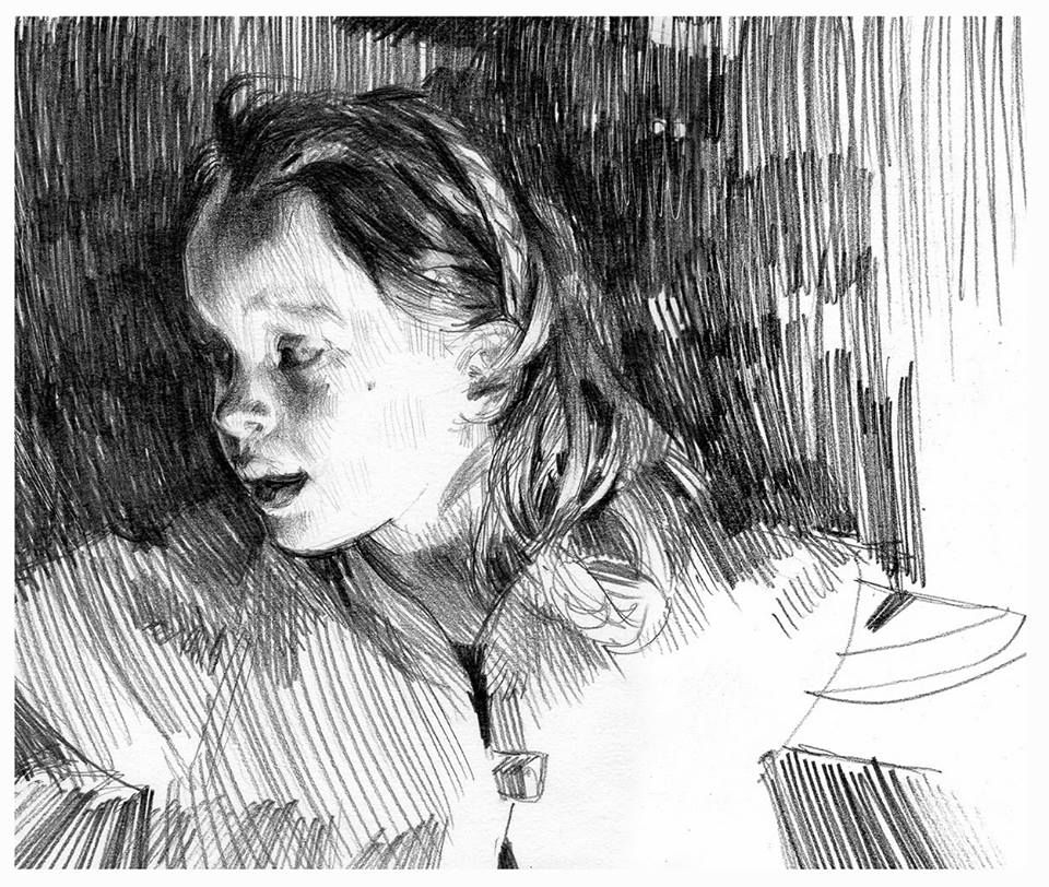 portraits a light shadesdrawing