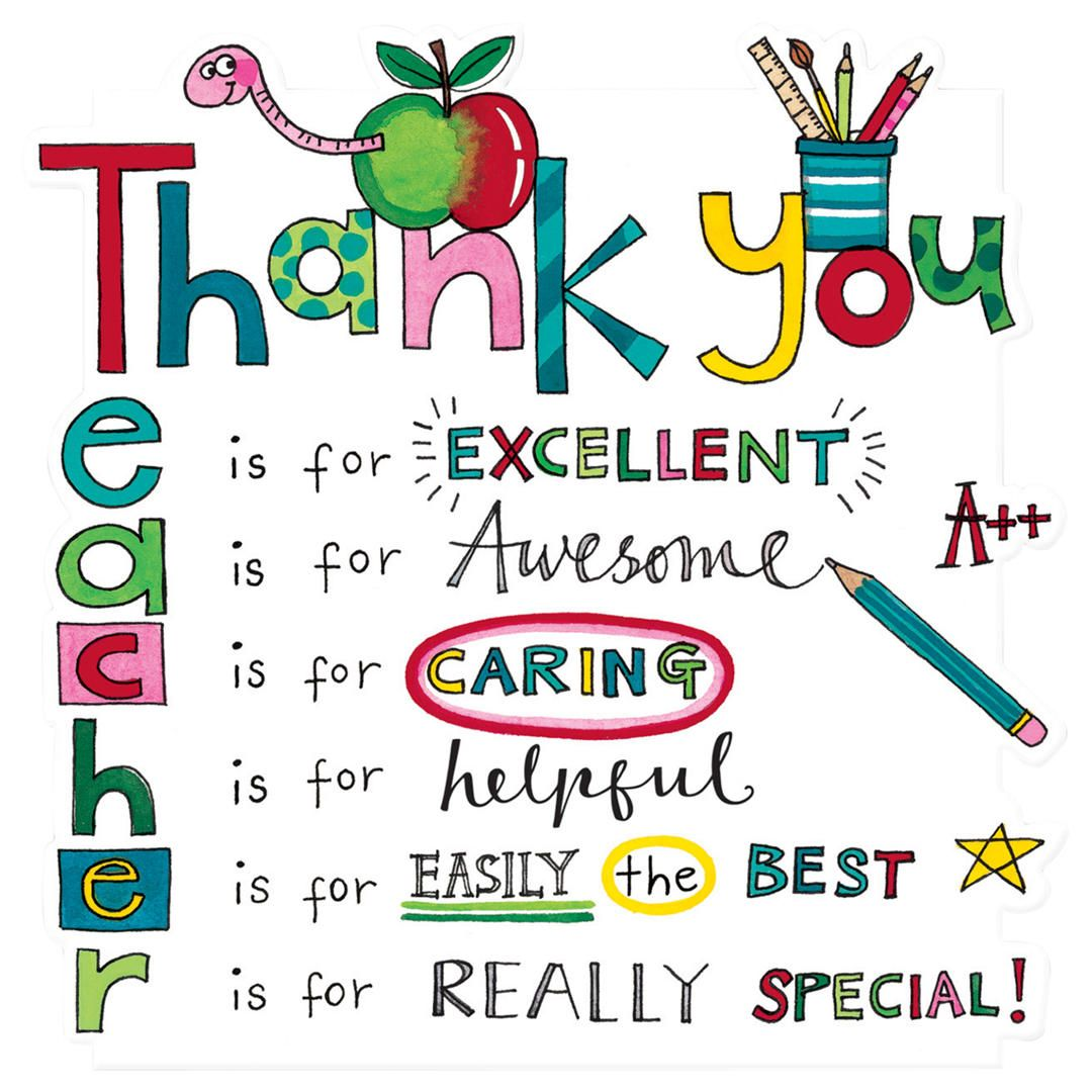 Rachel Ellen Designs Teacher Thank You Card Greeting Cards For Teachers Teacher Cards Teacher Appreciation Cards