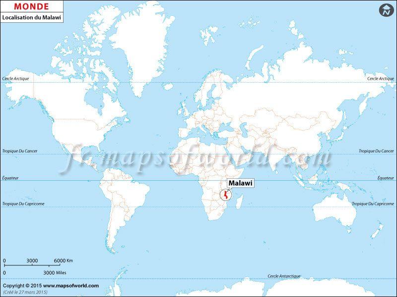 Localisation Du Malawi Sur La Carte Du Monde Location Map World