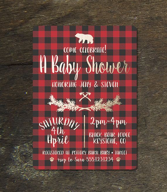 Jack and Jill Baby Shower Invitations