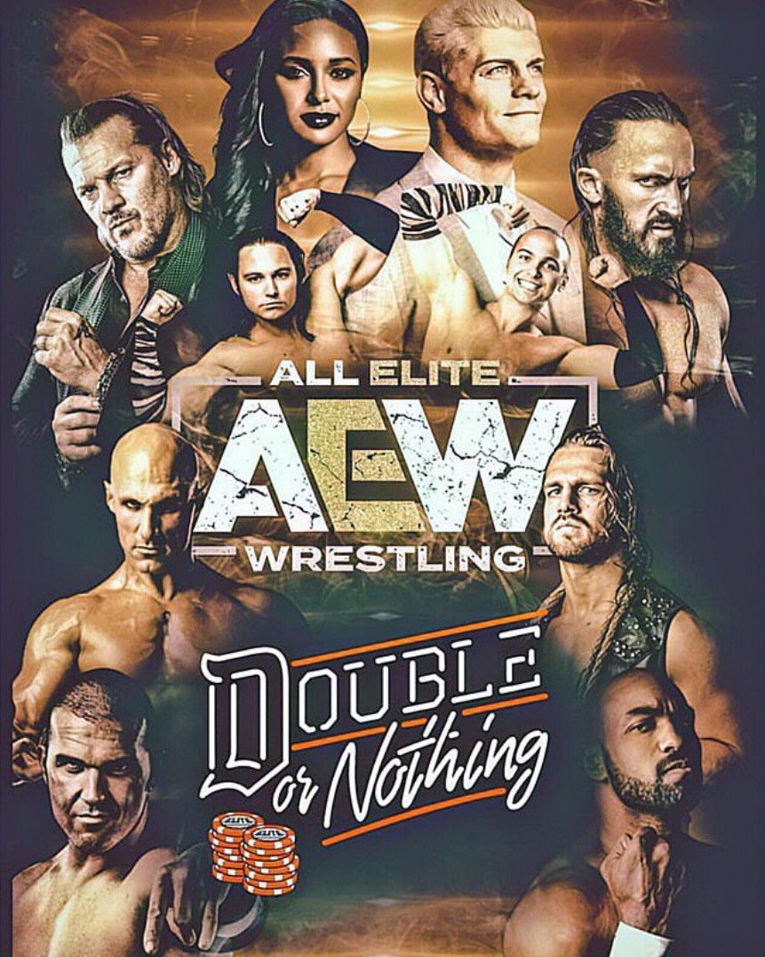 All Elite Wrestling Double Or Nothing Wrestling Posters Professional Wrestling Pro Wrestling