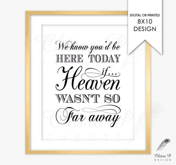 photograph about We Know You Would Be Here Today Free Printable identified as Inside loving memory Indicator - Released or Printable, We recognize oneself