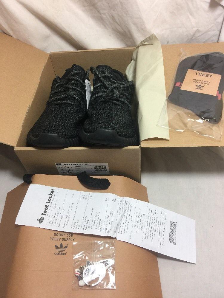 Adidas Yeezy Boost 350 Pirate Black (2016) BB5350 Size 11.5 DEADSTOCK W/ RECEIPT #adidas #RunningCrossTraining