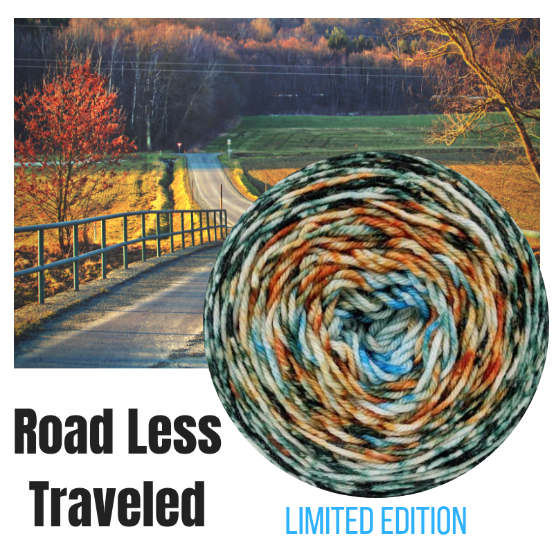 78423db7d093e Now available online and in-store! Road Less Traveled is a version of our  gorgeous Country Roads Impressionist colorway. This will only be available  for a ...