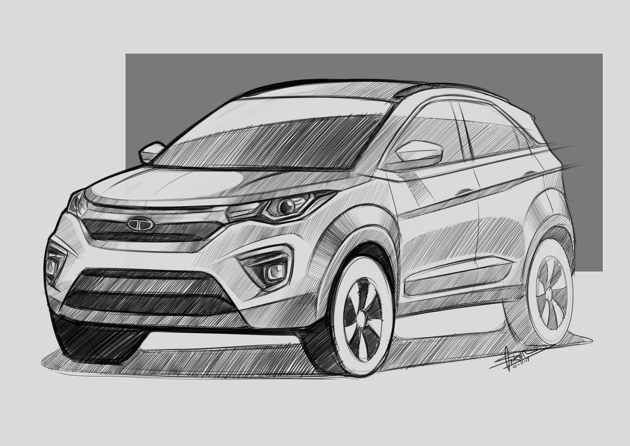 Artist renders the 2020 Facelift of Tata Nexon (With