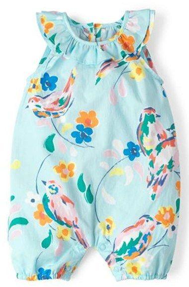 f8428b41288c Mini Boden Floral Print Romper (Baby Girls)