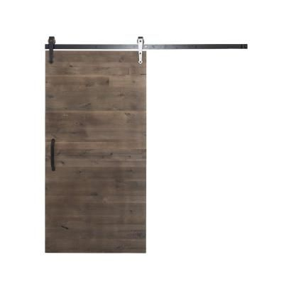 Rustica Hardware 42 In X 84 In Rustica Reclaimed Home Depot Gray Wood Barn Door With Arrow Interior Barn Doors Diy Interior Painting Interior Paint
