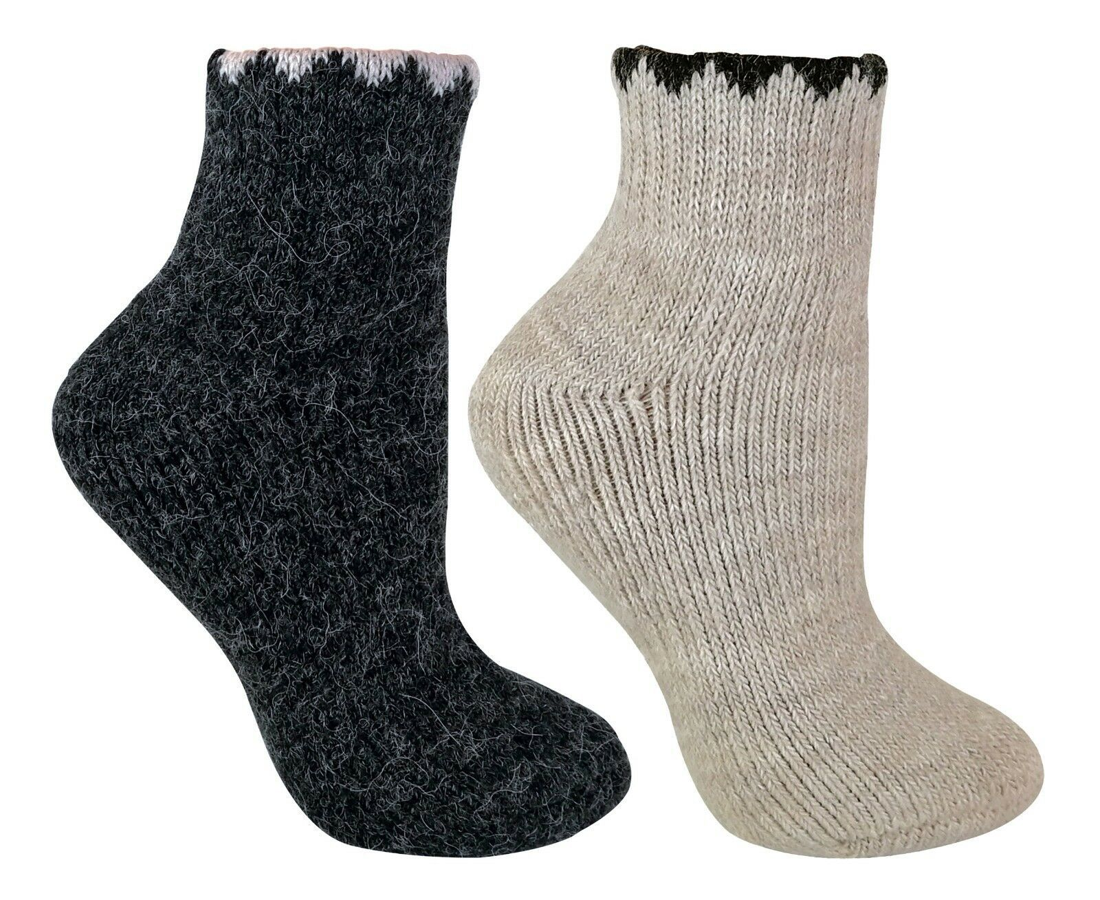 Mens Womens Rabbit Wool Thermal Socks Ultra Warm Thick Boot Socks 6-pack
