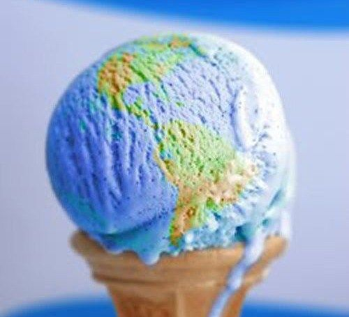 ice cream cone world.  two things i love: ice cream and the world.