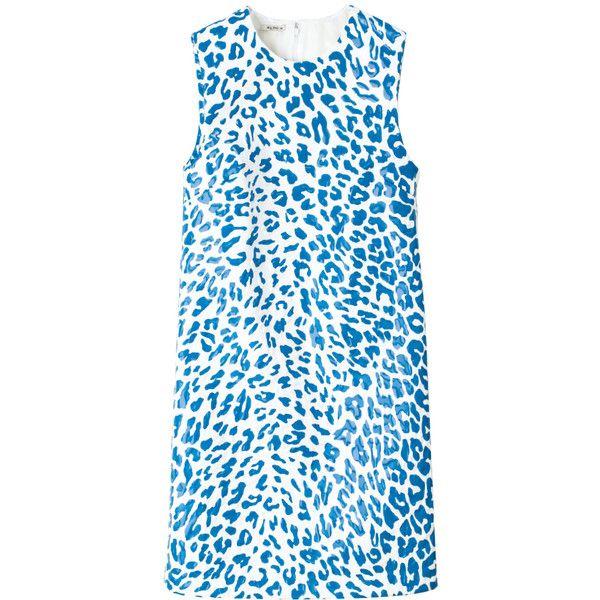 ドレス ❤ liked on Polyvore featuring dresses, miu miu and blue dress