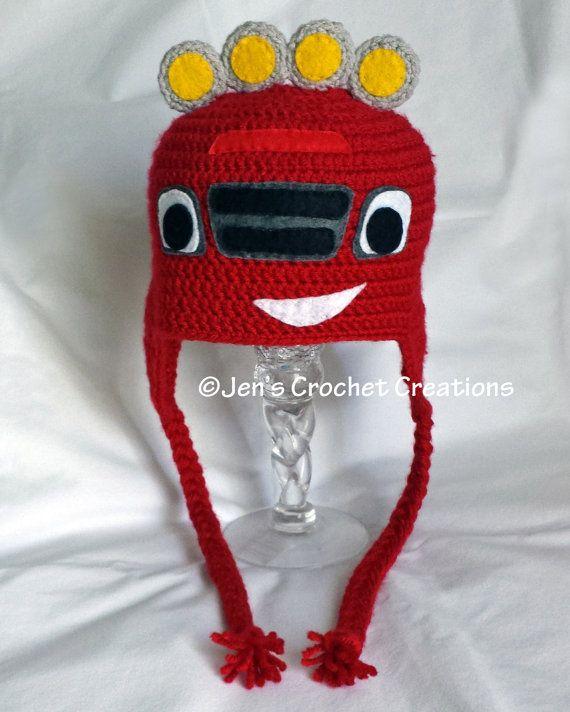 Crochet Blaze the Monster Machine inspired hat