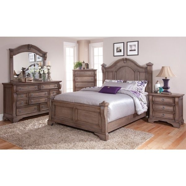 Greyson Living Traditions 5-piece Weathered Grey Poster Bed Set