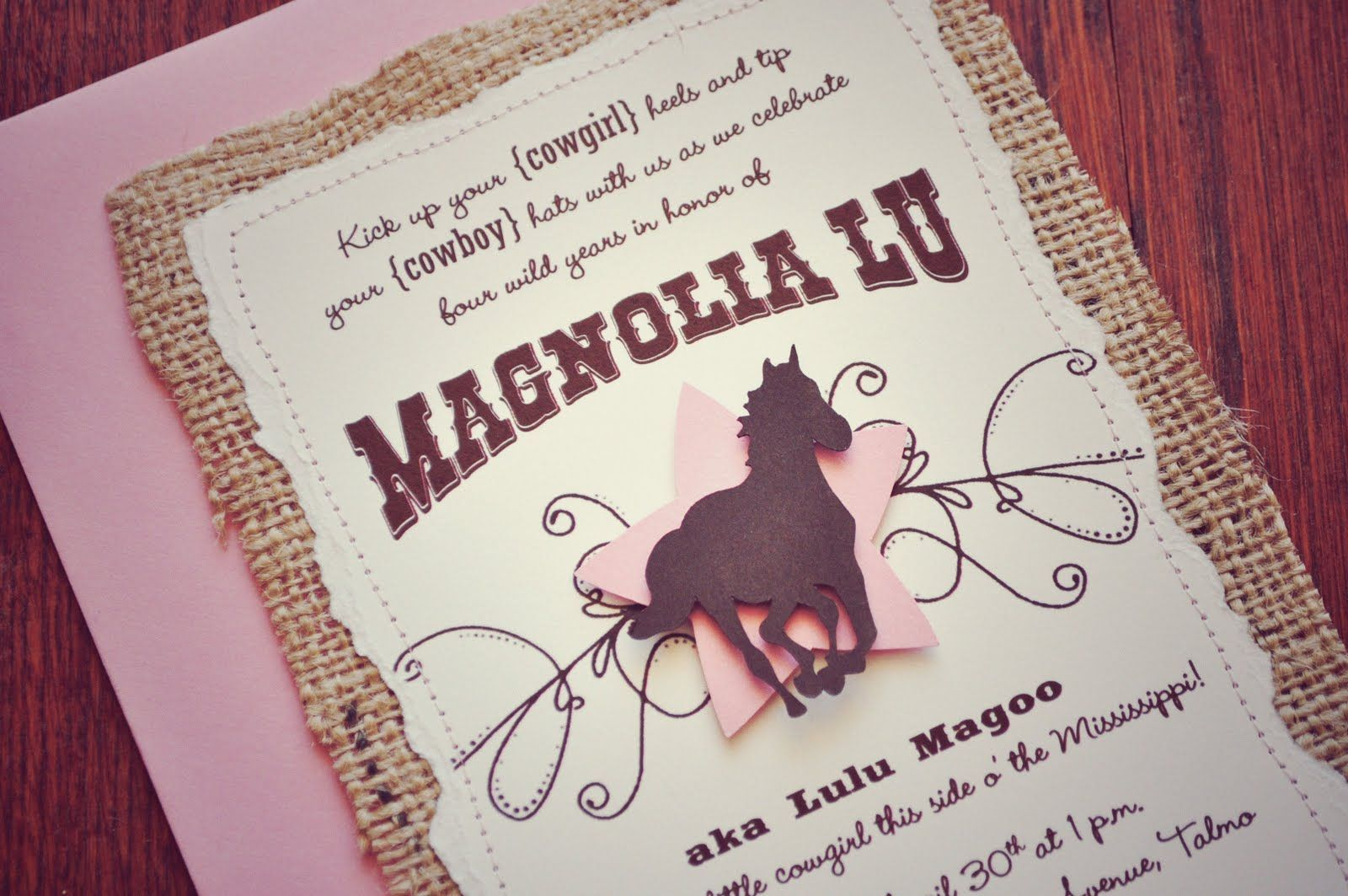 The Invitation | Horse party, Cowgirl invitations and Cowgirl party