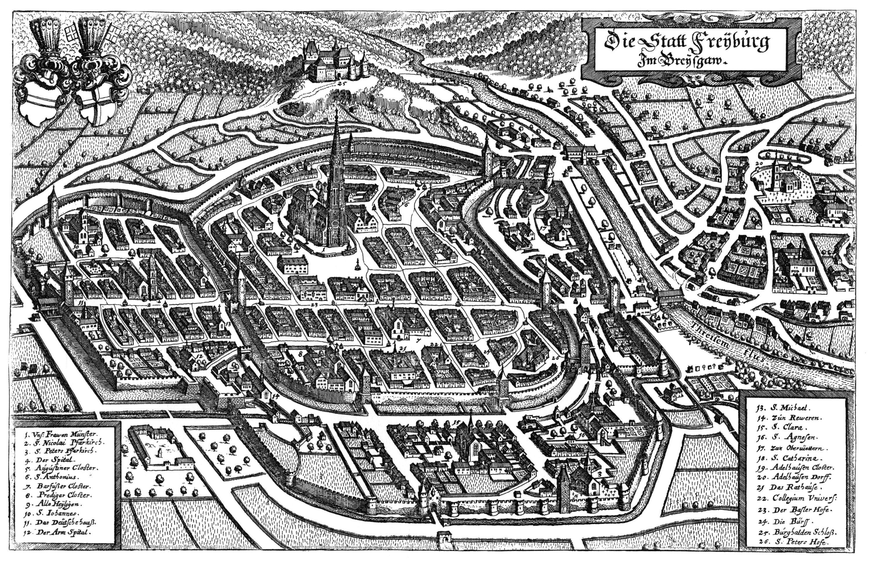 Freiburg im Breisgau Germany 1644 MAPS Pinterest