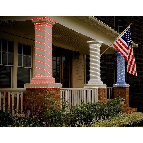 Patriotic led rope lights red white blue 3 pack 16 each porch patriotic led rope lights red white blue 3 pack 16 each porch outdoor decor aloadofball Gallery