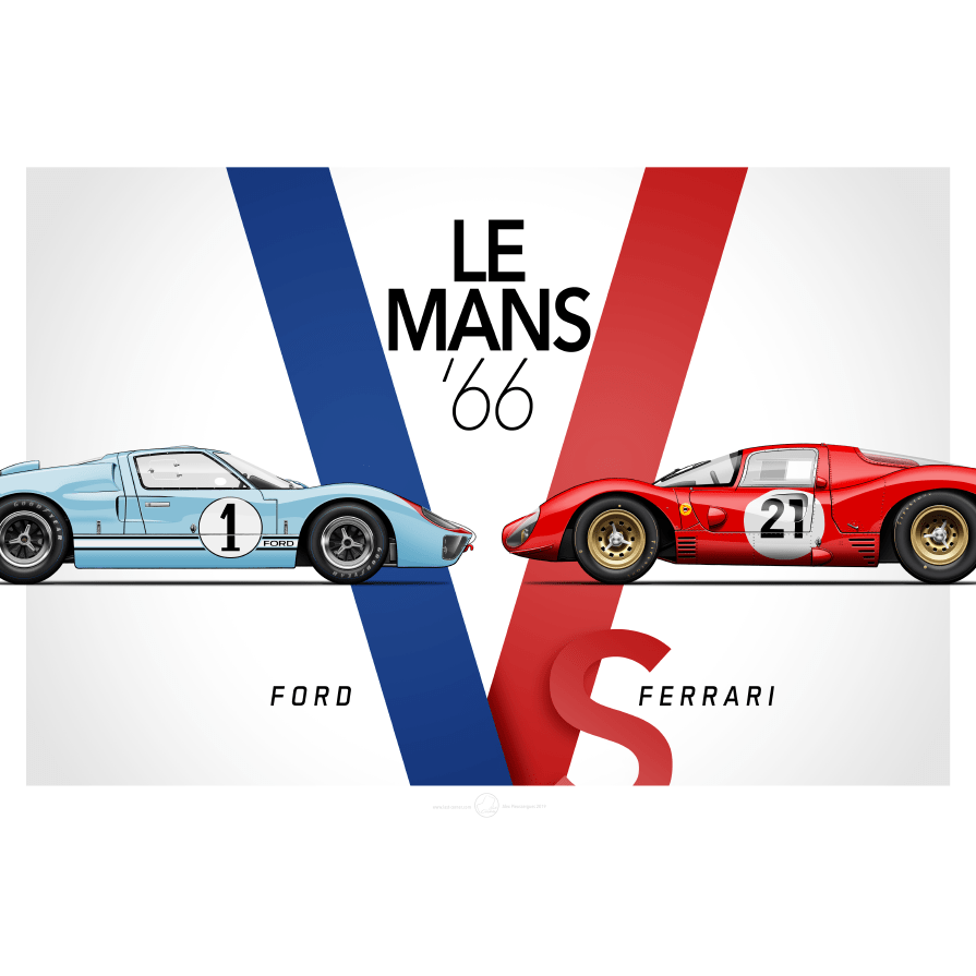 A Personal Print Version Of The Movie Ford V Ferrari Le Mans