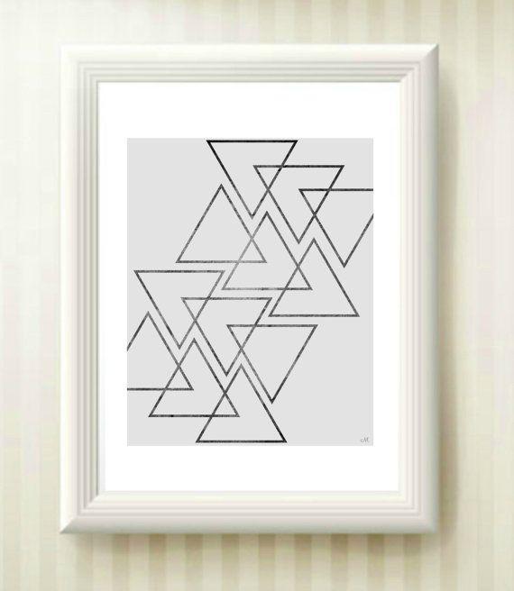 Minimalist Printable Grey Triangle triangle door MrAndMrsPrintables