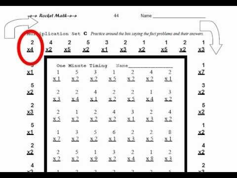 How to practice for timed multiplication Rocket Math quizzes. | Math ...