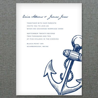Diy Nautical Anchor Wedding Invitation From Andprint Have This Made In Your