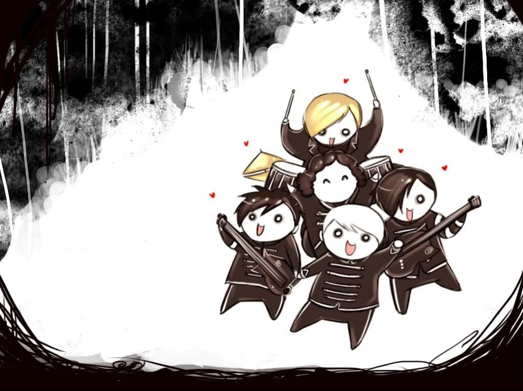 Cute My Chemical Romance Chibi Welcome To The Black Parade My Chemical Romance Black Parade Graffiti Painting