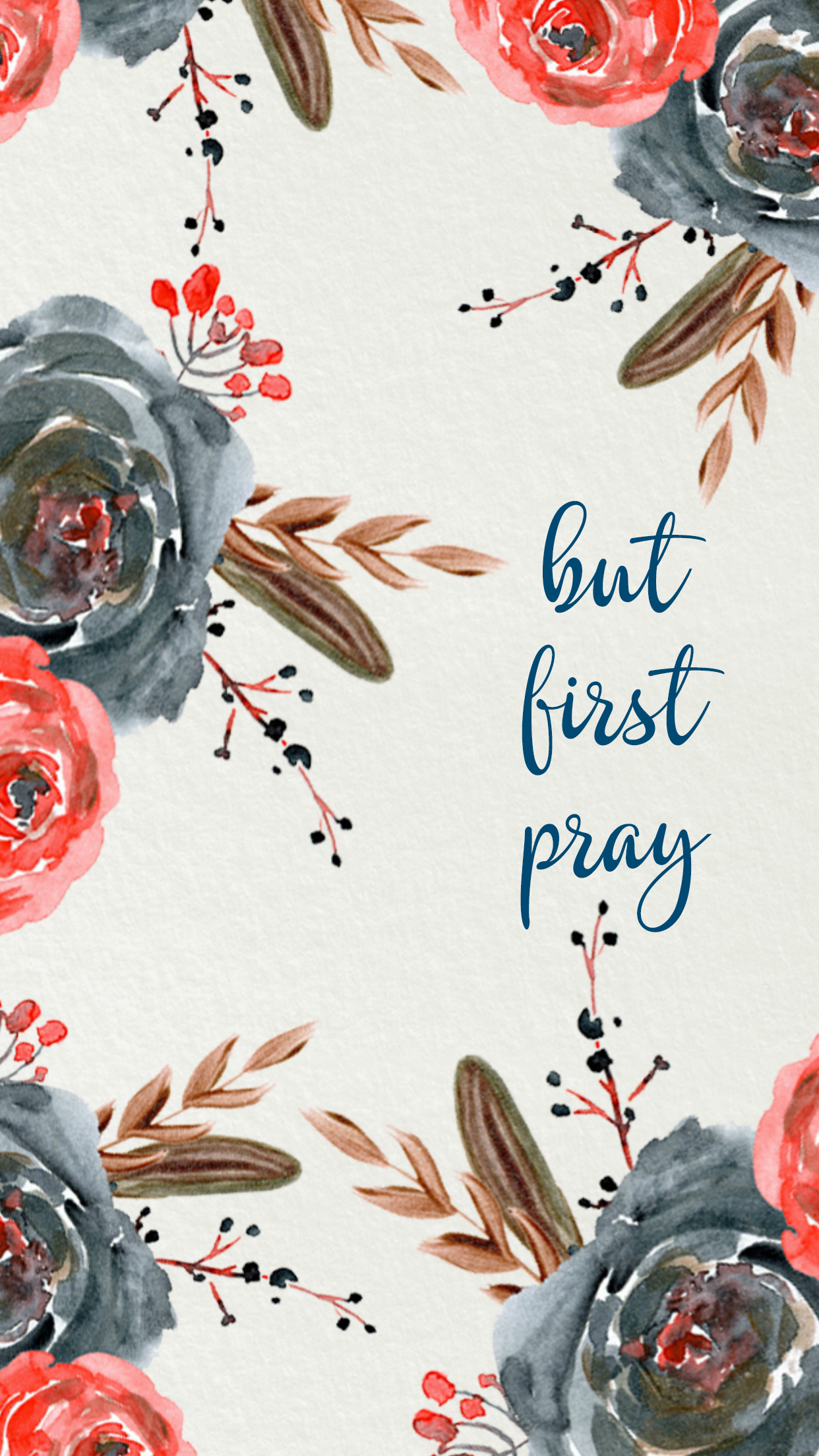 But first pray iphone wallpaper To live is Christ