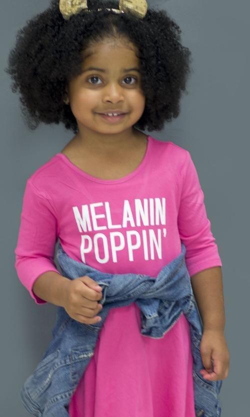 Kids Melanin Poppin Dress Kids Melanin Poppin Melanin
