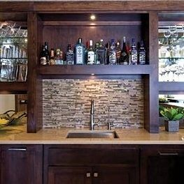 Inspirational Basement Wet Bar Images