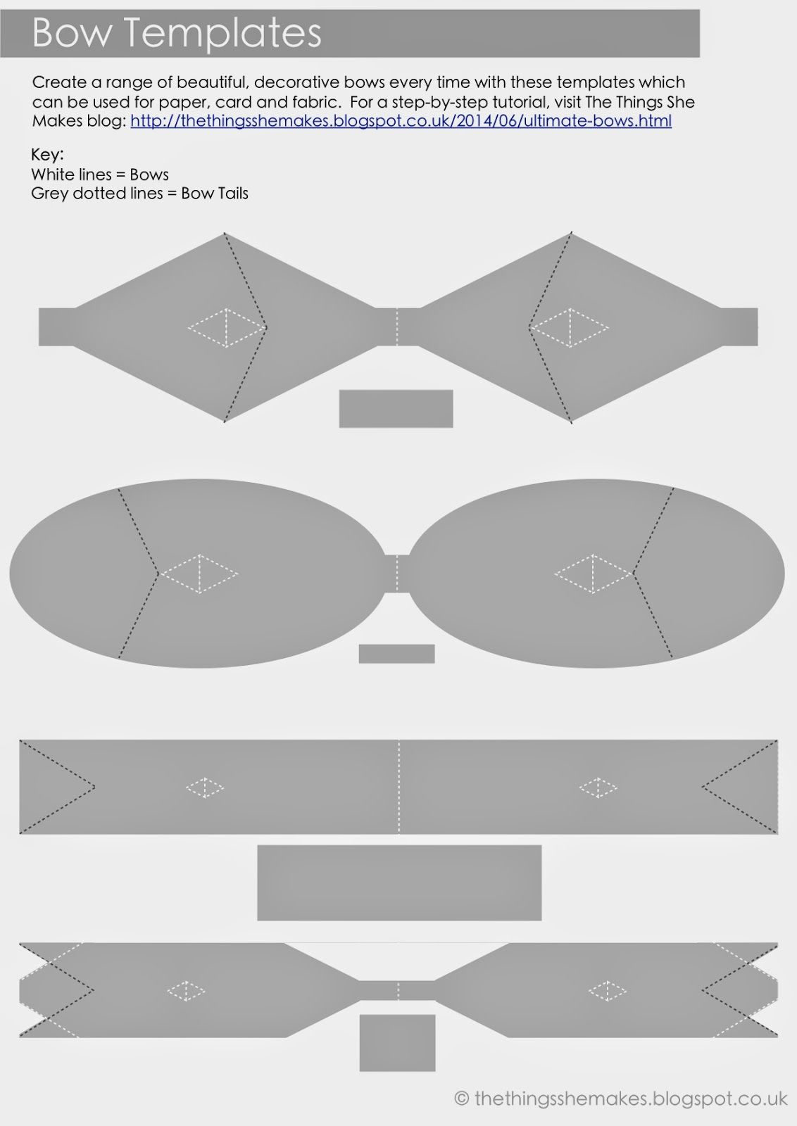Uk craft blog creating making baking the things she for Felt bow tie template