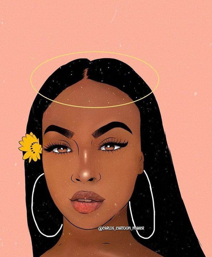 ʙᴀʙííɢíʀℓℓ Black love art, Black girl cartoon, Black