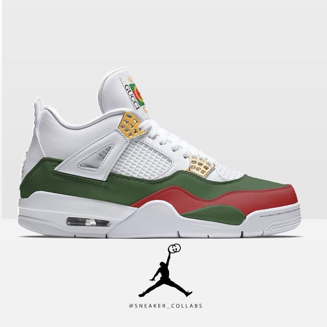 premium selection 94440 11a9c Air Jordan 4 x Gucci (idea from  sneakrsforthought )