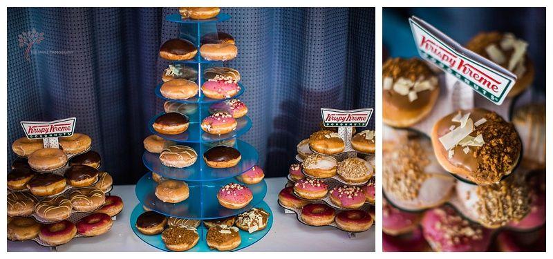Krispy Kreme donuts instead of a wedding cake Wedding