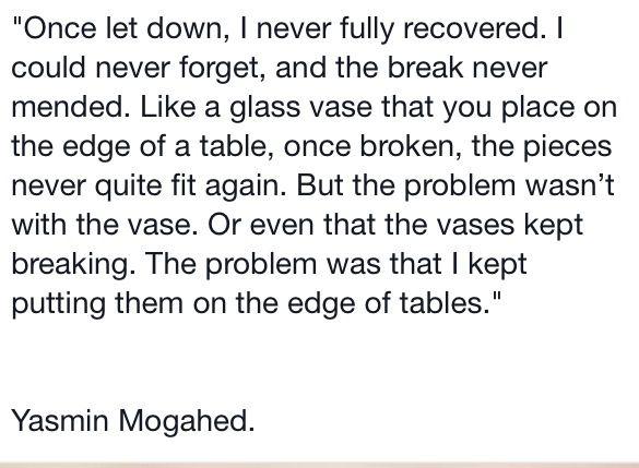 Edges of tables Yasmin Mogahed