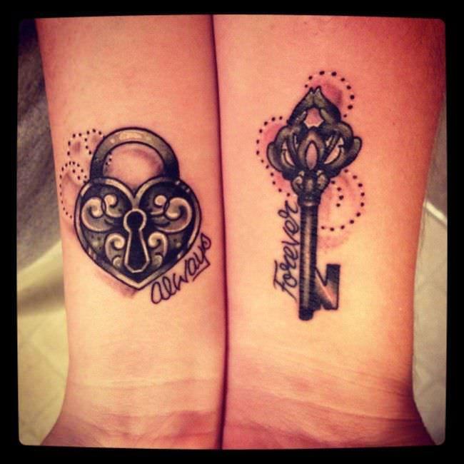 175 tatuajes para parejas originales y rom nticos - Ideas originales para parejas ...